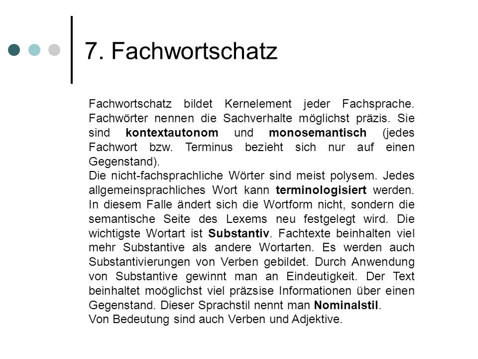 7. Fachwortschatz