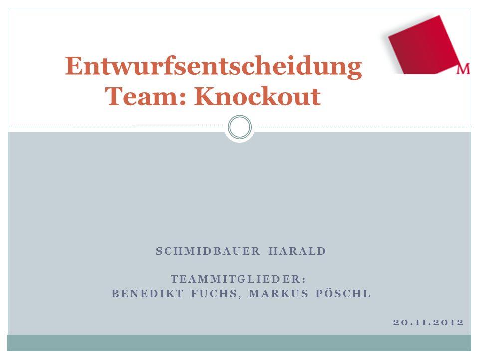 Entwurfsentscheidung Team: Knockout