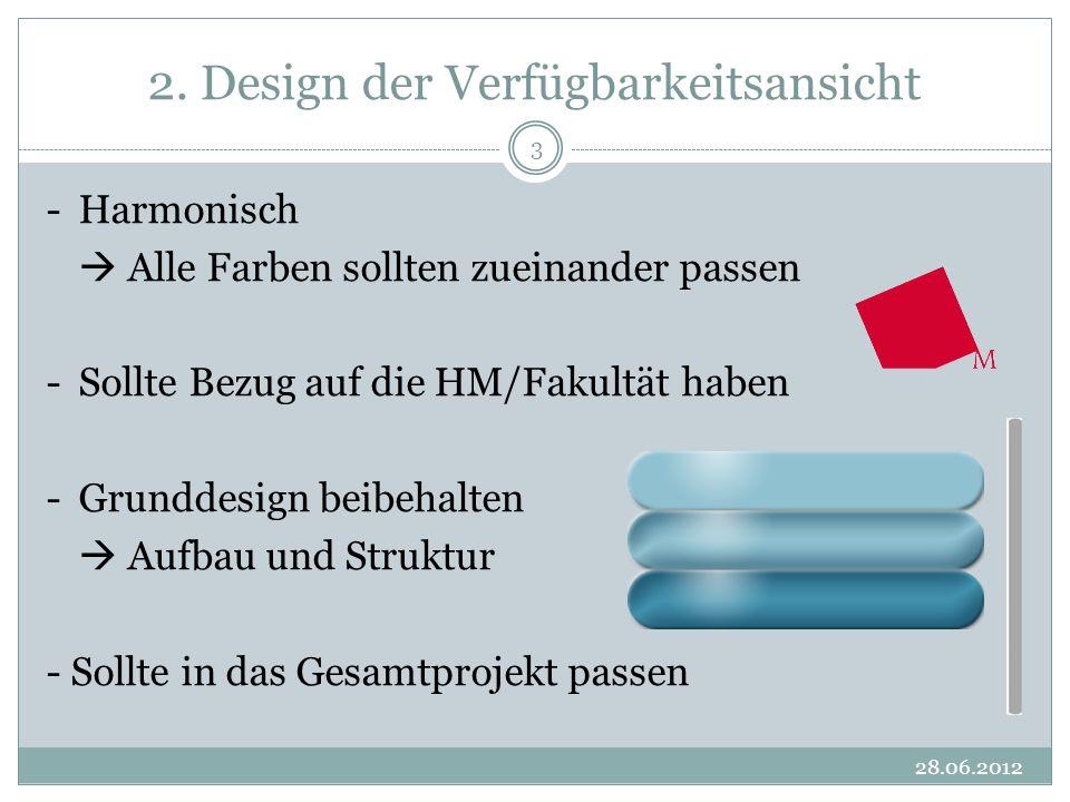 2. Design der Verfügbarkeitsansicht