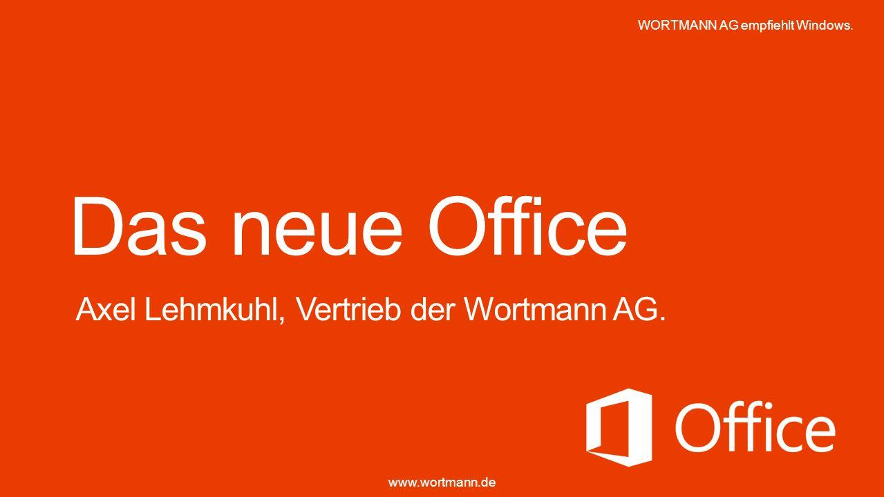 Das neue Office Axel Lehmkuhl, Vertrieb der Wortmann AG.