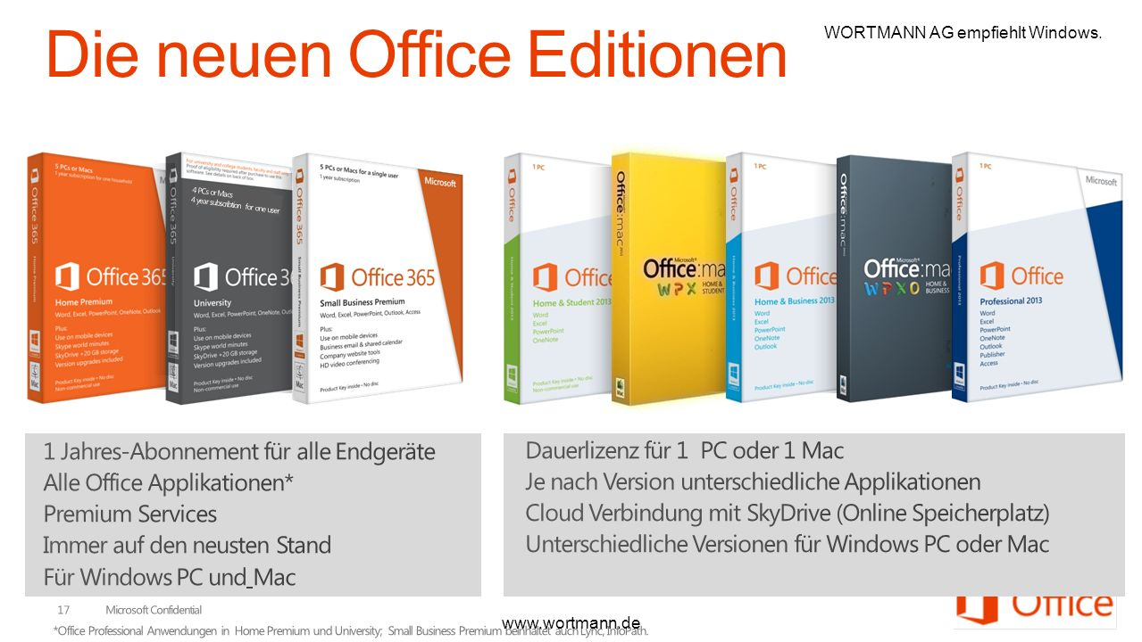 Die neuen Office Editionen