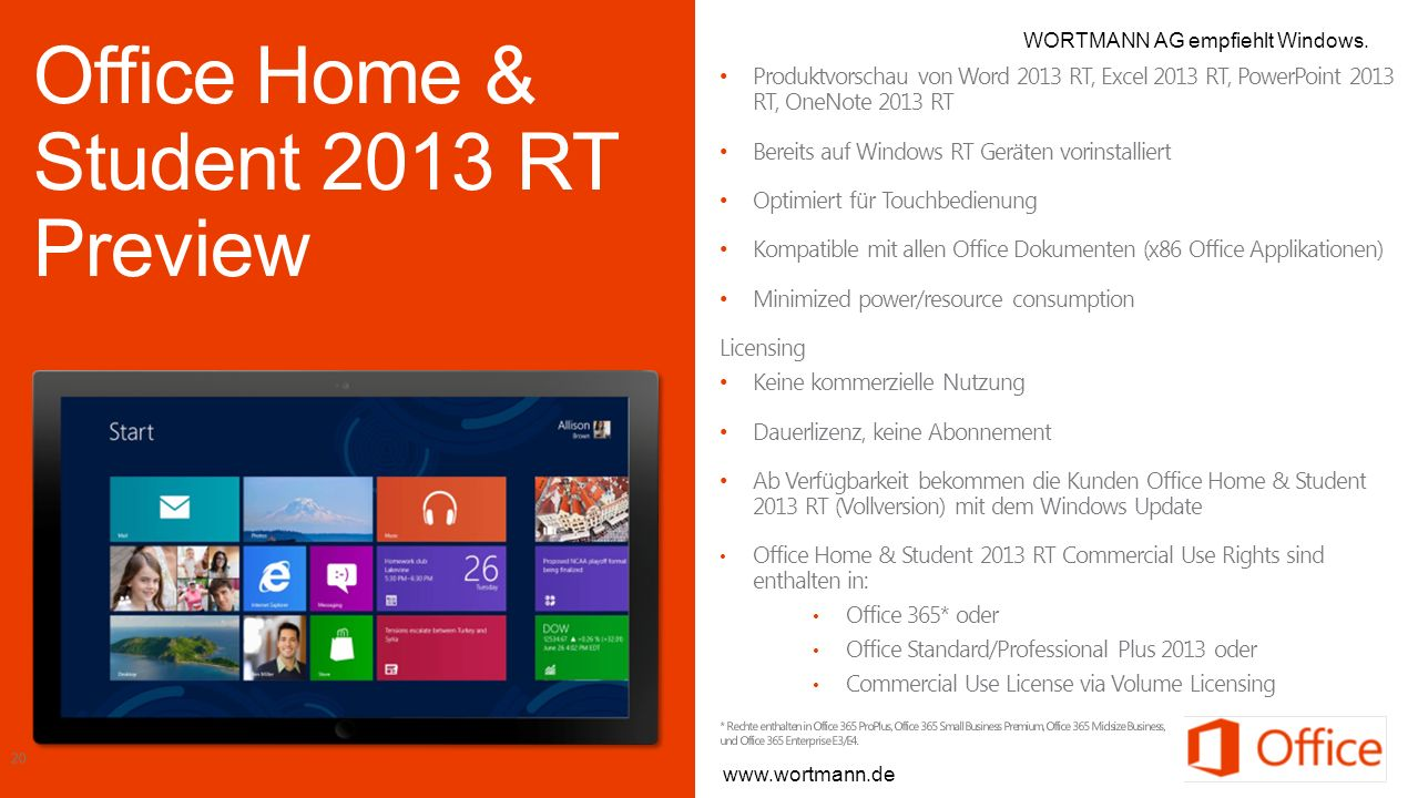 Office Home & Student 2013 RT Preview