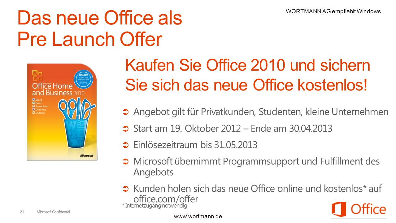 Das neue Office als Pre Launch Offer