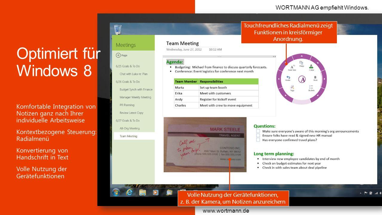 Microsoft Office 3/28/2017. WORTMANN AG empfiehlt Windows. Touchfreundliches Radialmenü zeigt Funktionen in kreisförmiger Anordnung.