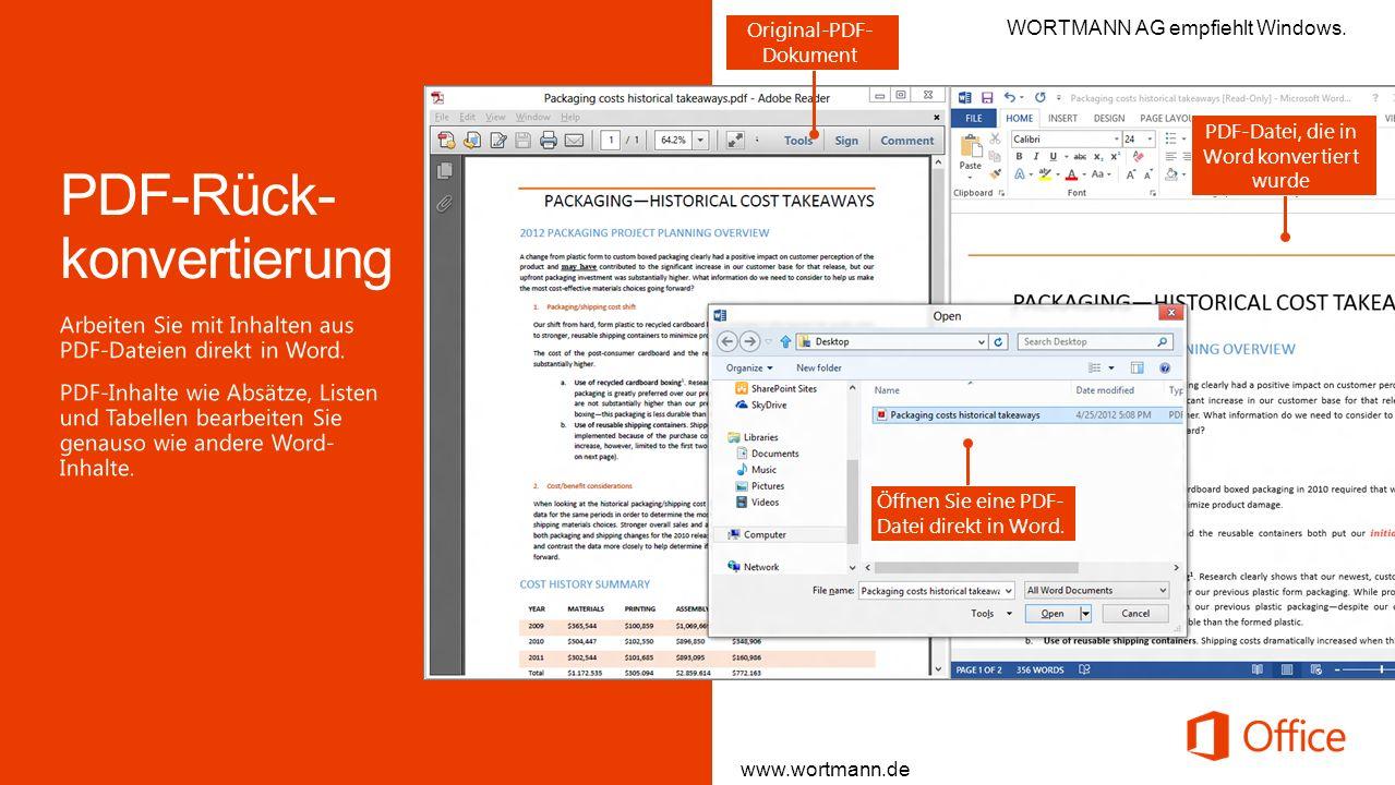PDF-Rück-konvertierung