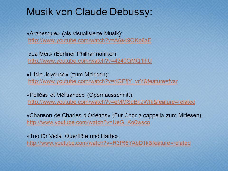 Musik von Claude Debussy: