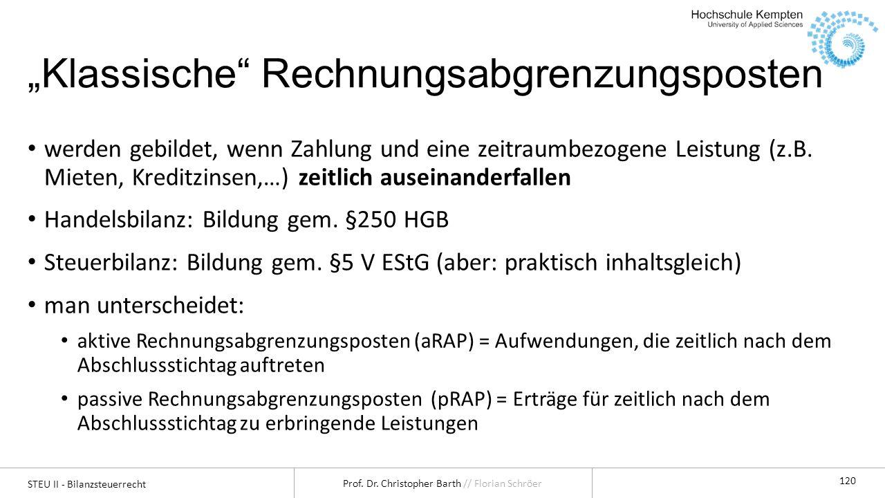 """""""Klassische Rechnungsabgrenzungsposten"""