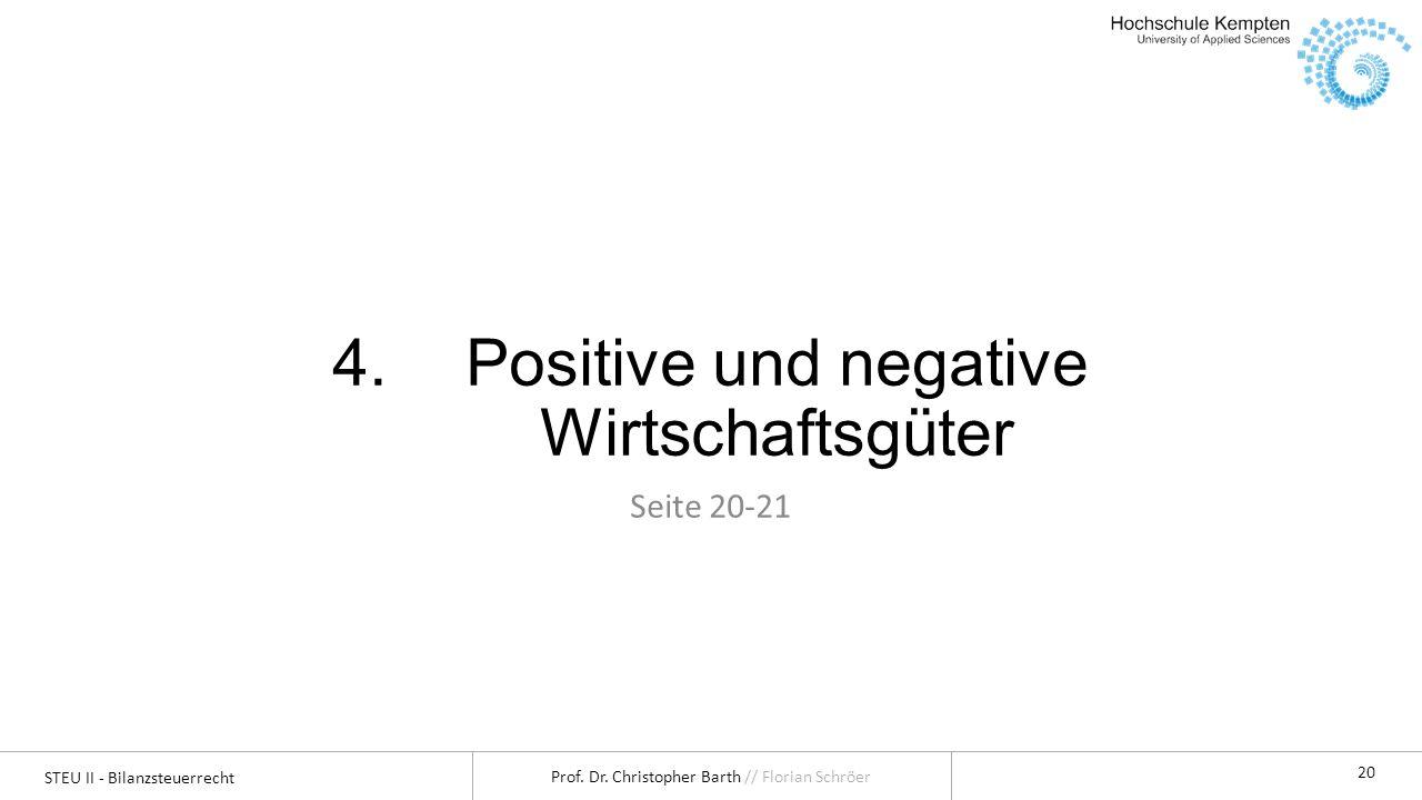 Positive und negative Wirtschaftsgüter