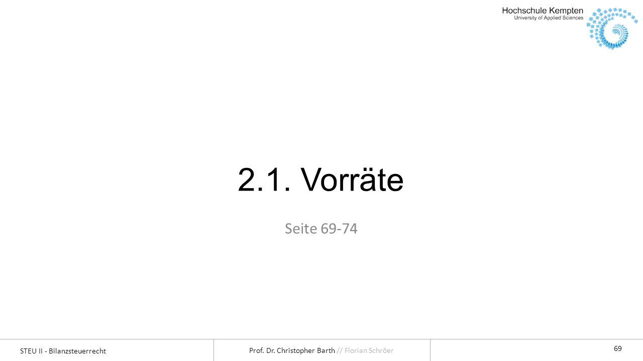 2.1. Vorräte Seite 69-74