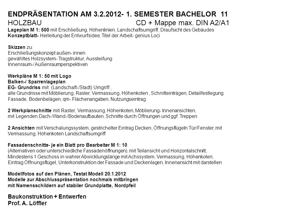 ENDPRÄSENTATION AM SEMESTER BACHELOR 11