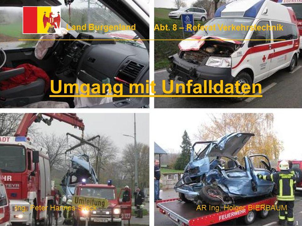 Umgang mit Unfalldaten