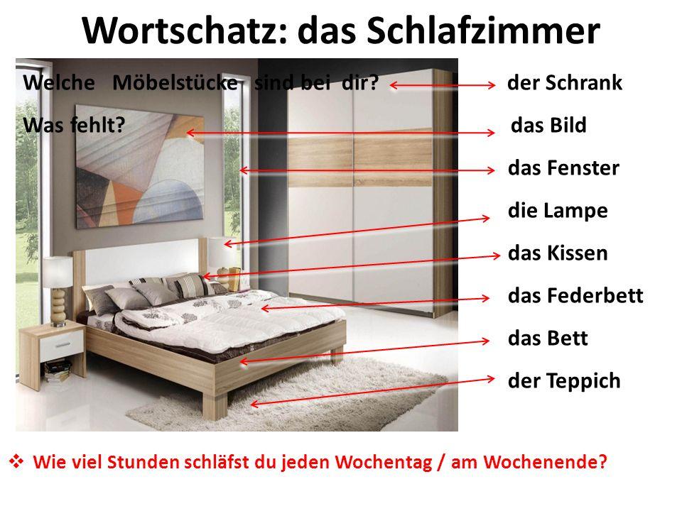 Wortschatz: das Schlafzimmer