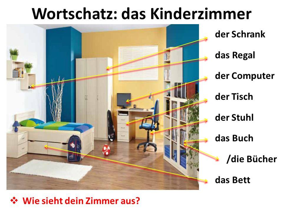Wortschatz: das Kinderzimmer