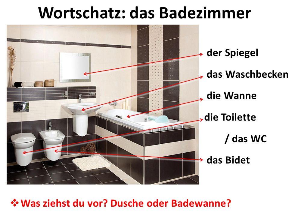 Wortschatz: das Badezimmer