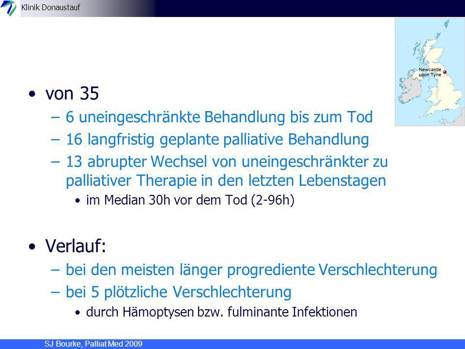 von 35 Verlauf: 6 uneingeschränkte Behandlung bis zum Tod