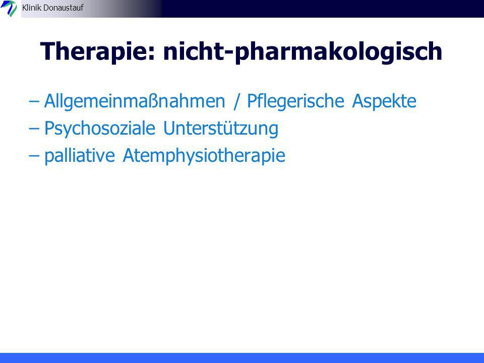Therapie: nicht-pharmakologisch