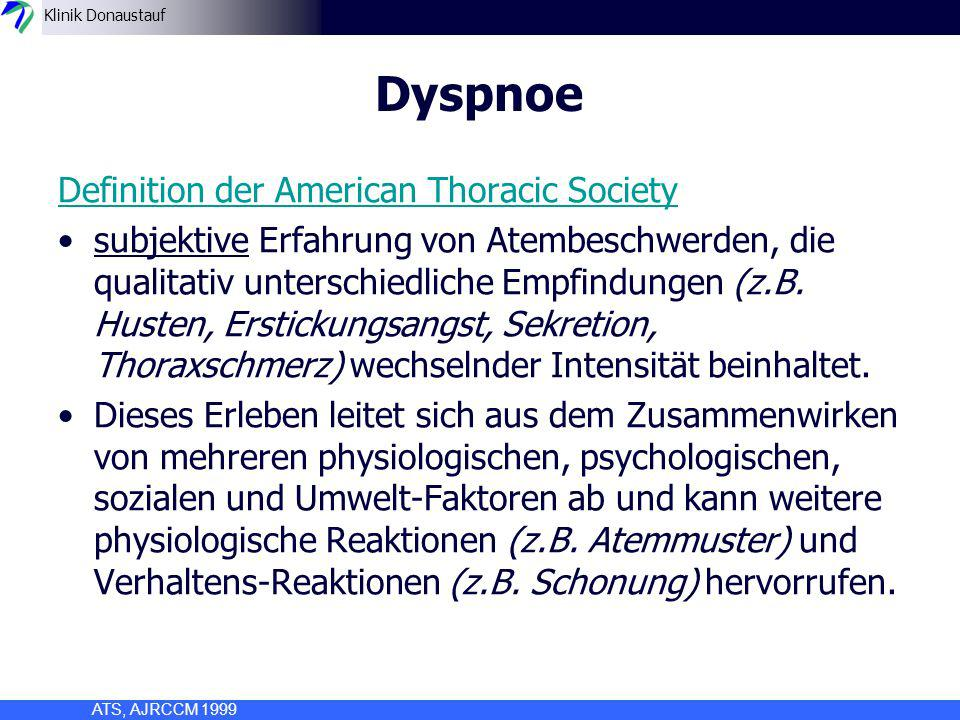 Dyspnoe Definition der American Thoracic Society