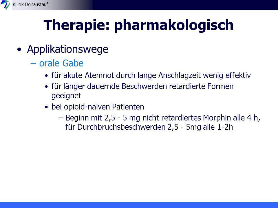Therapie: pharmakologisch
