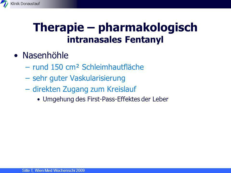 Therapie – pharmakologisch intranasales Fentanyl