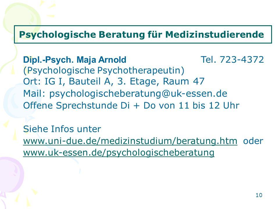 Psychologische Beratung für Medizinstudierende