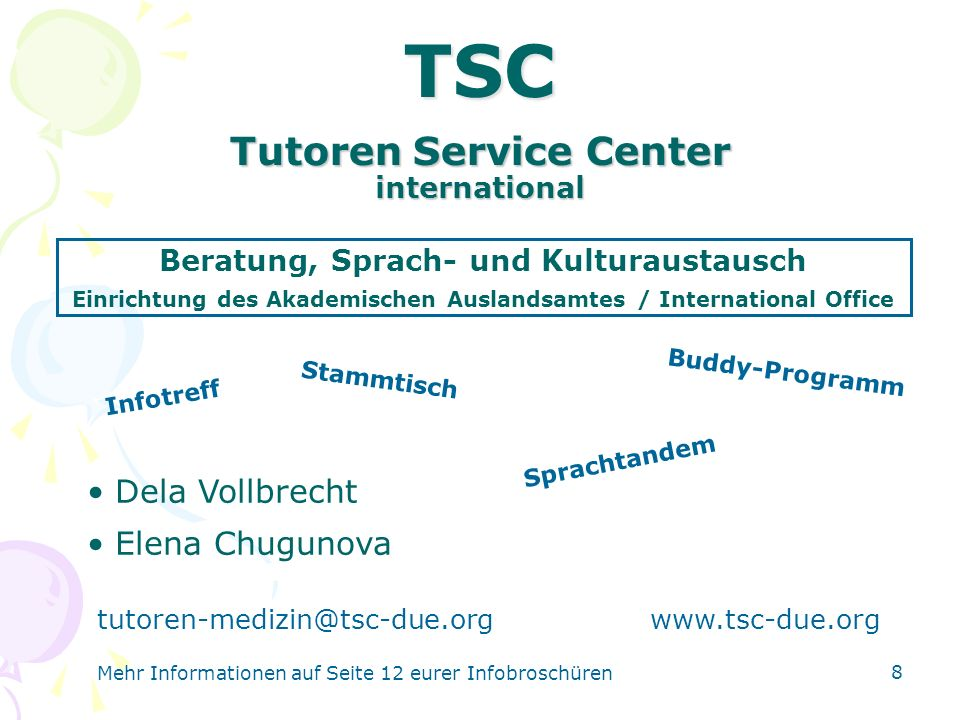 Tutoren Service Center international