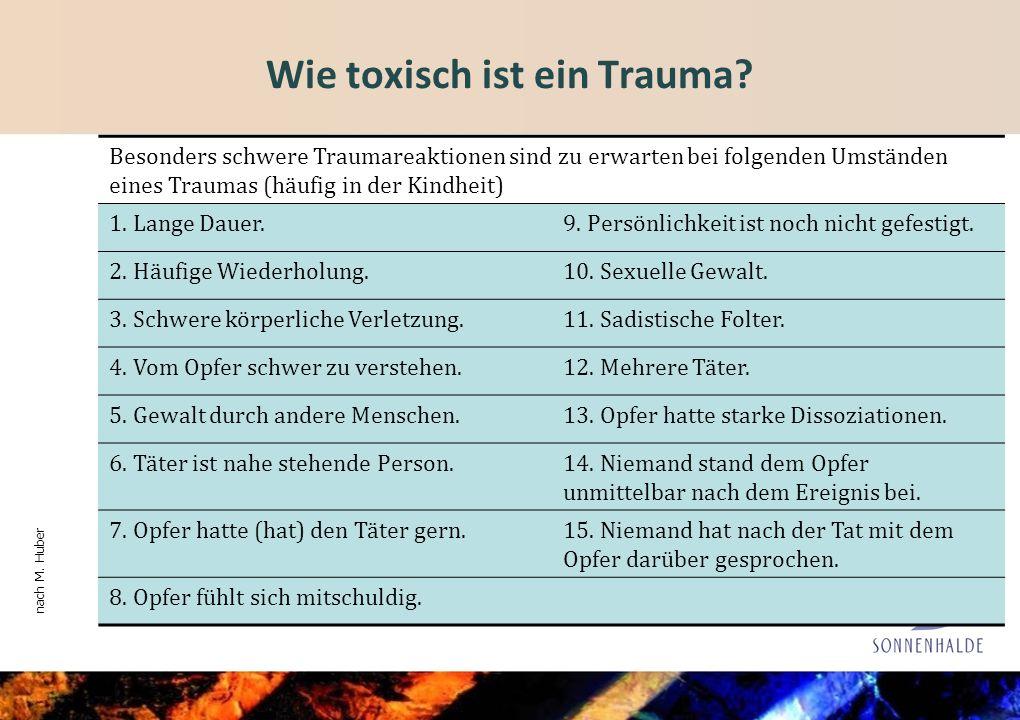 Wie toxisch ist ein Trauma