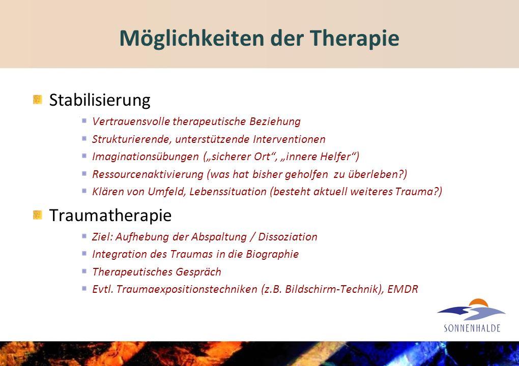 Möglichkeiten der Therapie
