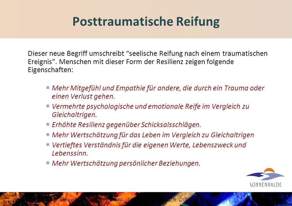 Posttraumatische Reifung