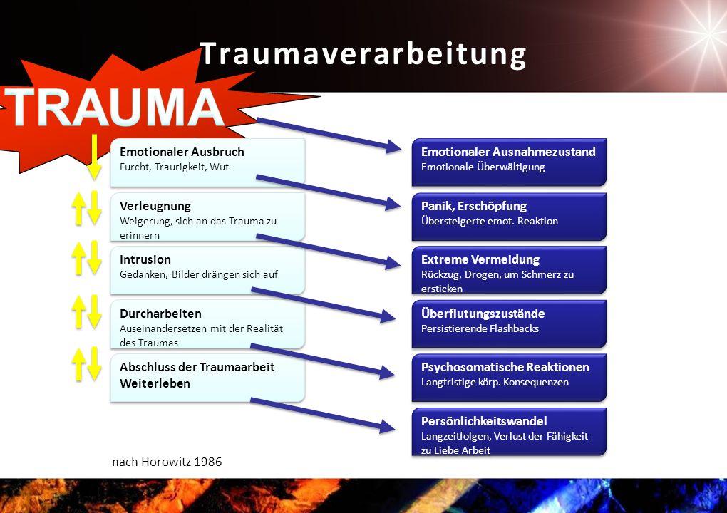 TRAUMA Traumaverarbeitung Emotionaler Ausbruch