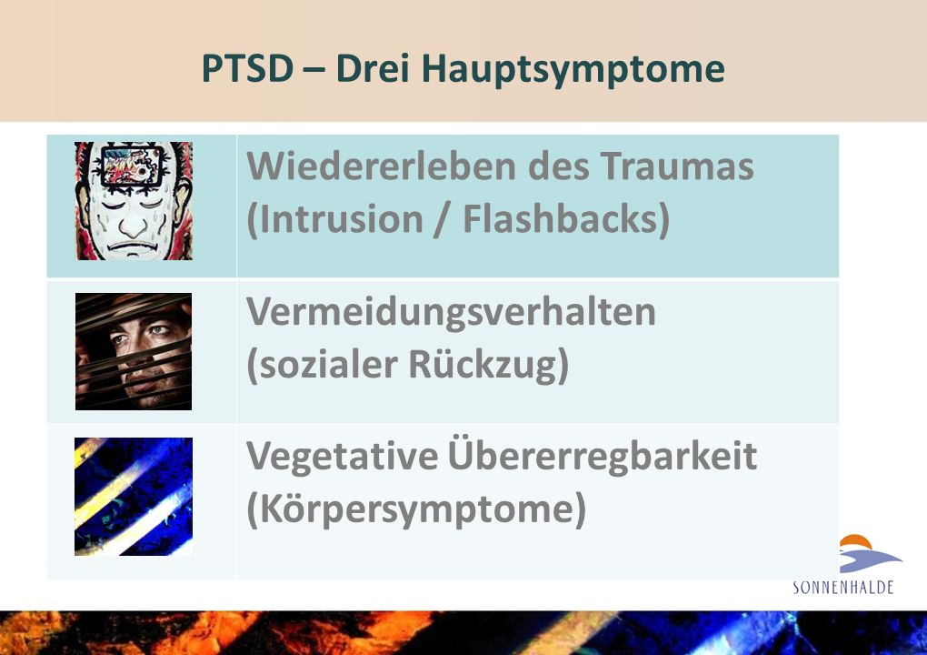 PTSD – Drei Hauptsymptome
