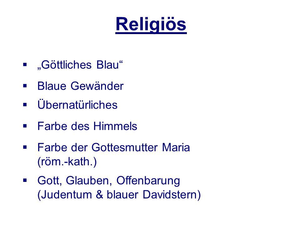 """Religiös """"Göttliches Blau Blaue Gewänder Übernatürliches"""