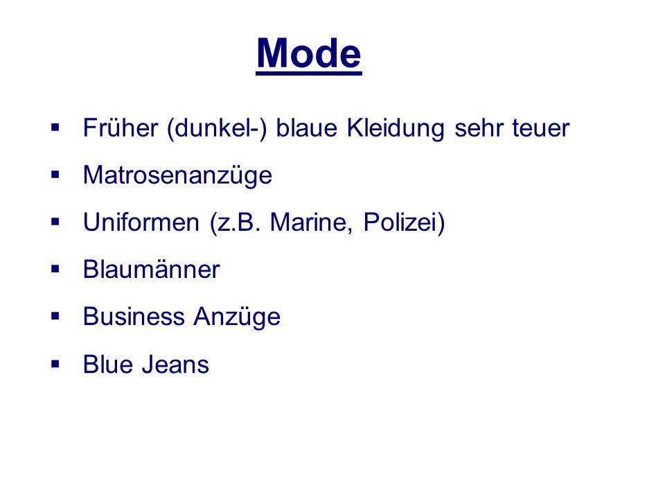 Mode Früher (dunkel-) blaue Kleidung sehr teuer Matrosenanzüge