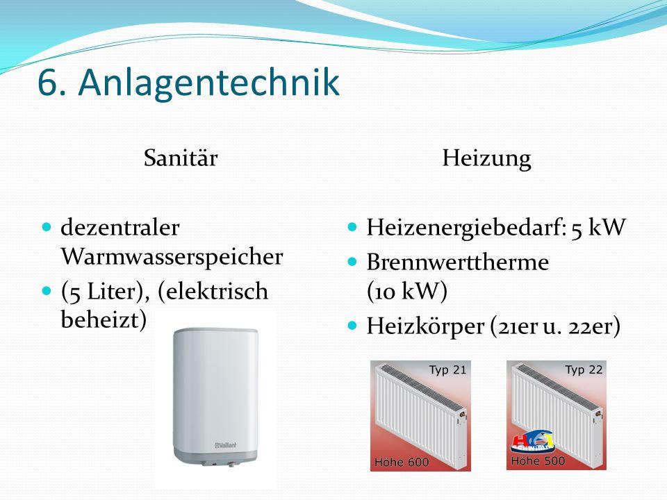 6. Anlagentechnik Sanitär dezentraler Warmwasserspeicher