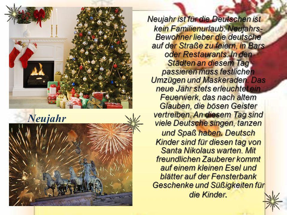 Neujahr ist für die Deutschen ist kein Familienurlaub