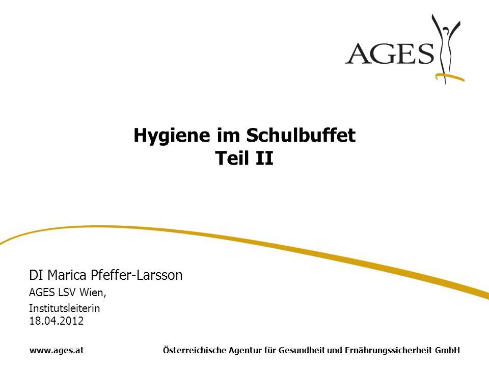Hygiene im Schulbuffet Teil II