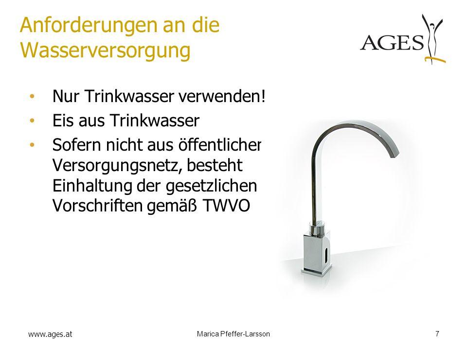 Anforderungen an die Wasserversorgung