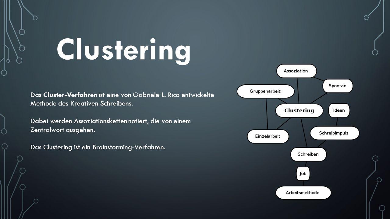 Clustering Das Cluster-Verfahren ist eine von Gabriele L. Rico entwickelte Methode des Kreativen Schreibens.