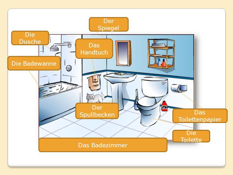 Der Spiegel Die Dusche Das Handtuch Die Badewanne Der Spullbecken