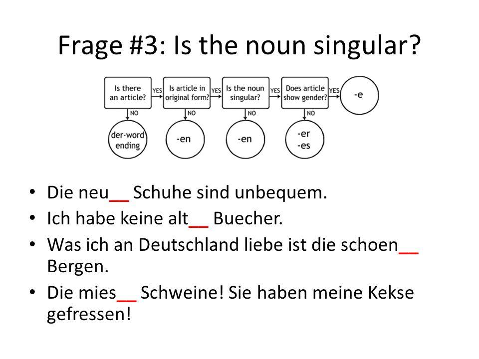 Frage #3: Is the noun singular