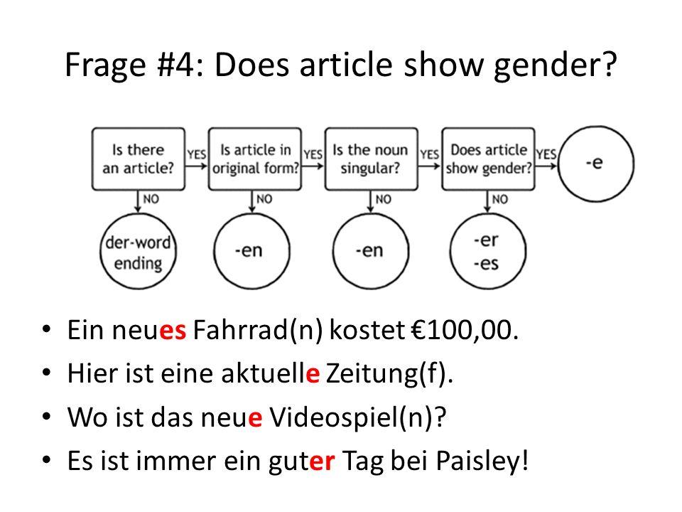 Frage #4: Does article show gender