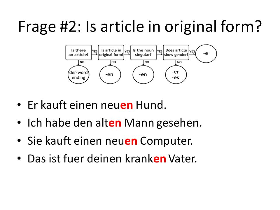 Frage #2: Is article in original form