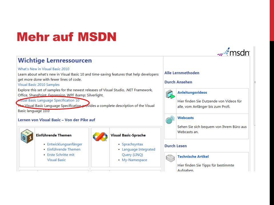 Mehr auf MSDN