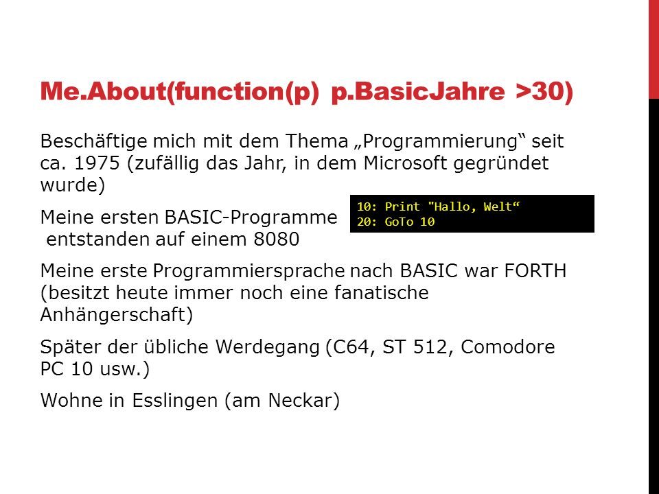 Me.About(function(p) p.BasicJahre >30)