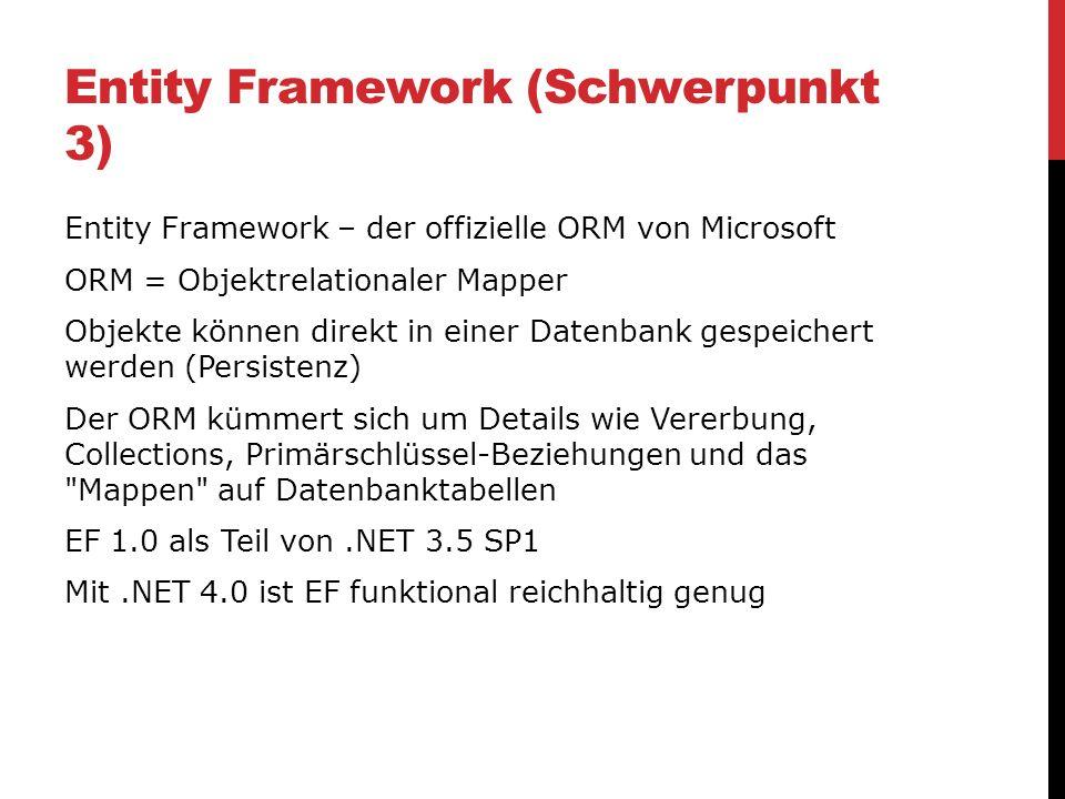 Entity Framework (Schwerpunkt 3)
