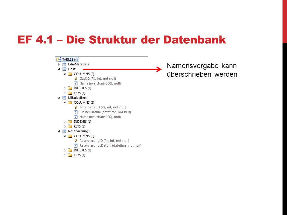 EF 4.1 – Die Struktur der Datenbank