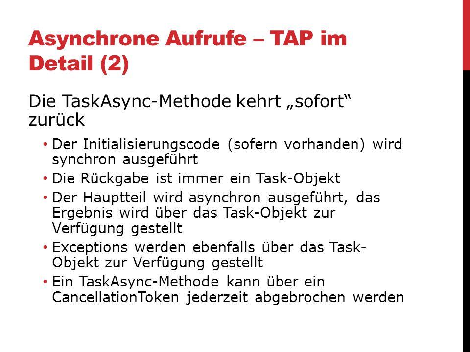 Asynchrone Aufrufe – TAP im Detail (2)