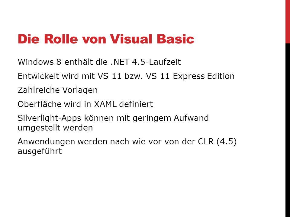 Die Rolle von Visual Basic