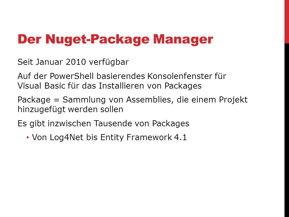 Der Nuget-Package Manager