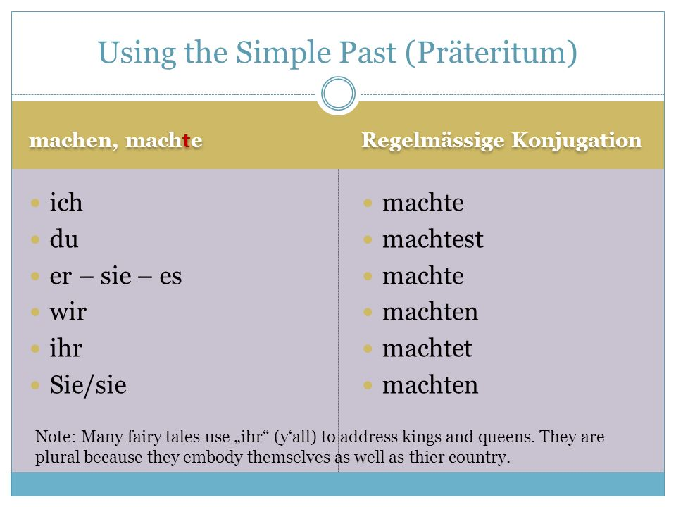 Using the Simple Past (Präteritum)