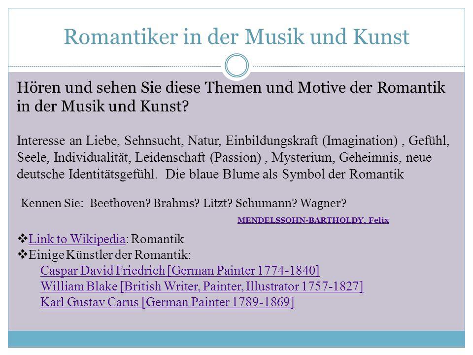 Romantiker in der Musik und Kunst